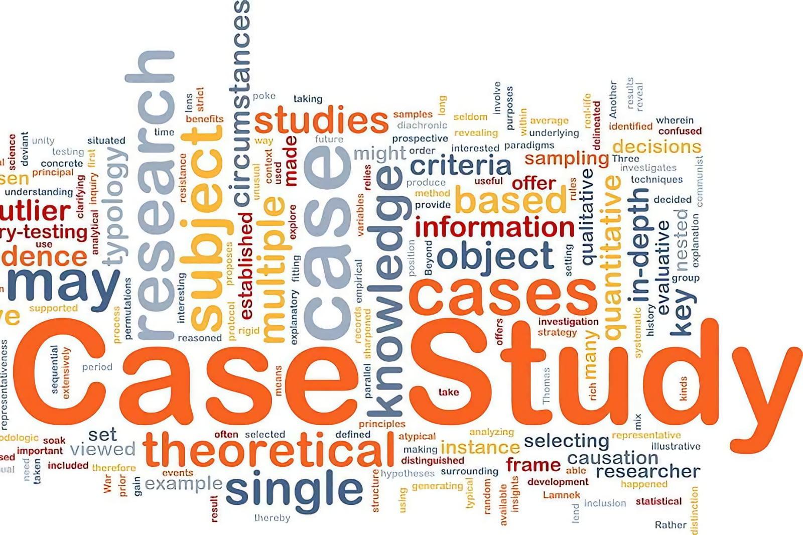 Case study word cloud concept